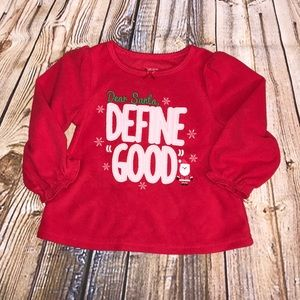 carters pajamas baby girl christmas pajamas size 18 months - Girl Christmas Pajamas